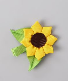 Look at this #zulilyfind! Yellow Sunflower Clip by Bubbly Bows #zulilyfinds