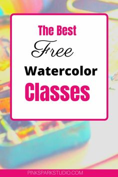 Take these amazing watercolor classes and develop your painting skills. Watercolor Classes, Watercolor Lesson, Watercolor Beginner, Watercolor Paintings For Beginners, Watercolor Journal, Watercolor Tips, Watercolour Tutorials, Watercolor Techniques, Painting Tutorials