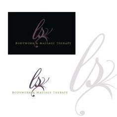 Logo for a massage practice, designed by MycroBurst designer donnajane.