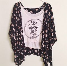 they have that shirt at pacsun and i love the kimono cardigan!