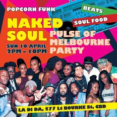 Inviting U & Your Friends To Popcorn Funk '' NAKED SOUL SUNDAY '' PALUSE OF MELBOURNE PARTY '' It's Soul-Food &  Wicked Beats....Day / Evening Event  2pm - 10pm.  Come be in the mix with our Fab - So - Soulful - Collectives as we ''kick back - dance '' to dope beats of the The Deck Poets. Our Jamaican Crew Boss Man Food Pty Ltd will serving up some delicious Caribbean food all day.  Sunday 10th April / 2pm - 10pm  All - Are - Welcome  #popcorn #soul #session #sweet #goodvibes #joinus…