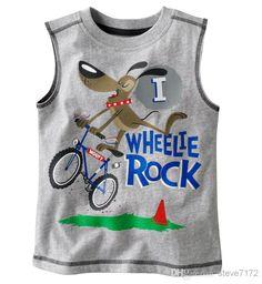 2014 Summer Sleeveless Boys T shirts Children Tank Tops Singlet Retail 1pcs/lot Vest Dropship - Free Shipping - ChinaBestPrice.com