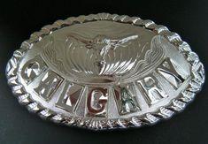 WESTERN CALGARY RODEO LONGHORNS BULL STAMPEDE CANADA GIANT METAL BELT BUCKLE Cool Belt Buckles, Rodeo Belt Buckles, Cowgirl Belts, Western Belts, Cowboy And Cowgirl, Western Wear, Calgary Rodeo, Cowboy Outfits, Metal Belt