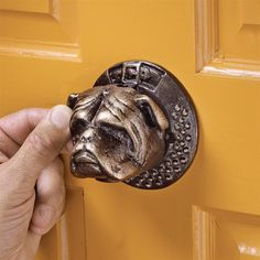 Bulldog Authentic Foundry Iron Door Knocker