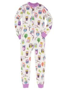 Hatley Childrens Onesie Pjs Union Suit Party Night Owls at Notrunofthemill 42add36c7
