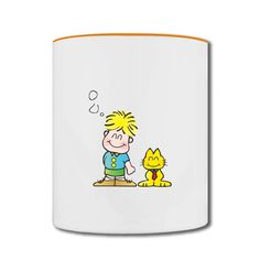 Smiling Cat And Men Two-tone Mug No Minimums-Funny Accessories with your own favorite texts or photos in our designer. free shipping and 24hours available to help.