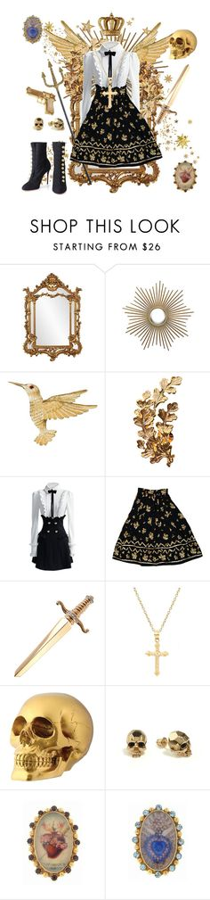 """Radiating Regality"" by sucrosia ❤ liked on Polyvore featuring Howard Elliott, Joanna Laura Constantine, Christian Louboutin, S.W.O.R.D., Pori, Kasun, Rock Rebel, Virgins Saints & Angels, women's clothing and women"