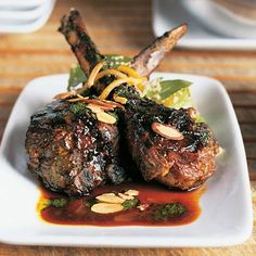 These grilled lamb chops get their Moroccan flavor from a mint chutney marinade and from the sweet and spicy barbecue sauce that's...