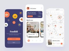 Foodidi Mobile App Exploration 🌮 Directory Design, Mobile App Templates, Job Opening, Interactive Design, App Development, Free Food, Branding Design, Give It To Me, Finding Yourself