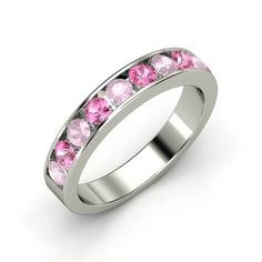 The Decade Band #customizable #jewelry #sapphire #rosequartz #ring