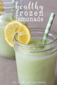 healthy frozen lemonade slush, made with whole lemons and grapes to make it much healthier than the sugary options