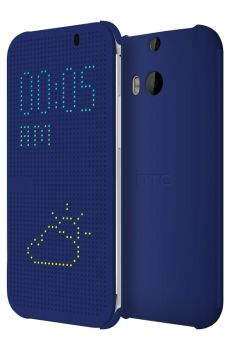 HTC - HTC One (M8) Dot View™ Case - Imperial Blue