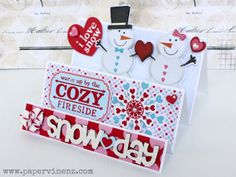 PaperVine: Snow Day Card Tutorial (Pink Paislee)