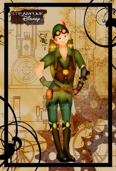 Peter Pan (Steampunk Disney by HelleeTitch)