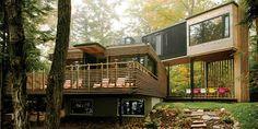 Découvrez notre sélection de maisons container #maison #container # http://www.novoceram.fr/blog/architecture/construction-maison-container