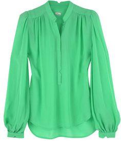 ShopStyle: Malene Birger Green Gertrude Blouse