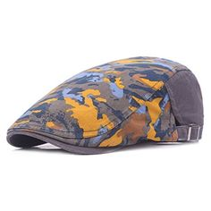 2ef2ec9e73a New Fashion Unisex Camouflage Printing Beret Cap Gorras Planas Duckbill Newsboys  Hats Ivy Cabbie Caps For Men And Women