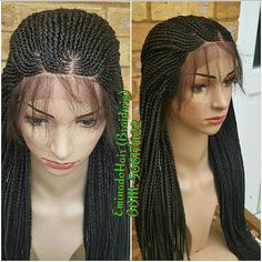 This Is Whole Lace Wig Hand Braided Single Plaits Has No Tracks At