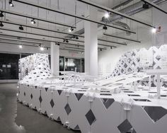 2x8 EVOLVE AIAILA Exhibition Design Cellular Complexity | Julia Koerner | Photo: Ryan Gobuty | Archinect