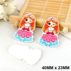 50pcs/lot Kawaii Little Girls Princess Flat Back Resin DIY Cartoon Planar Resin Crafts for Home Decoration Accessories DL-520