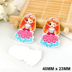 50pcs/lot Kawaii Little Girls Princess Flat Back Resin DIY Cartoon Planar Resin Crafts for Home Decoration Accessories DL-520