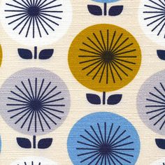 100% cotton bark cloth from the 'Time Warp' collection by Jessica Jones for Cloud 9 fabrics