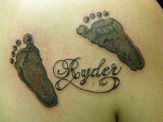 Baby footprints tattoo!!! Love love love!!!