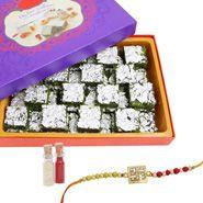 Rakhi with sweets and Rakhi Pista Barfi