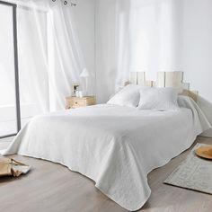 Boutis aux surpiqûres originales (blanc cassé) Bedroom, Relief, Motifs, Furniture, Collection, Home Decor, Dimensions, Products, Off White Color