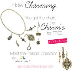 """""""Charm Sale"""" ad CinematicArts by Alex for #ChloeandIsabel #Charms #Jewelry #Tresors"""