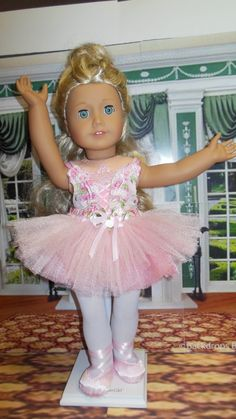 American girl doll clothes Beautiful Ballerina 18 by TheDollyDama