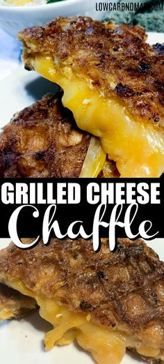 CHEESE CHAFFLE Looking for a tasty keto sandwich? This Keto Chaffle grilled cheese is delish! Super easy to make too!Looking for a tasty keto sandwich? This Keto Chaffle grilled cheese is delish! Super easy to make too! Low Carb Keto, Low Carb Recipes, Healthy Recipes, Diet Recipes, Cake Recipes, Grilling Recipes, Cooking Recipes, Burger Recipes, Keto Grilled Cheese