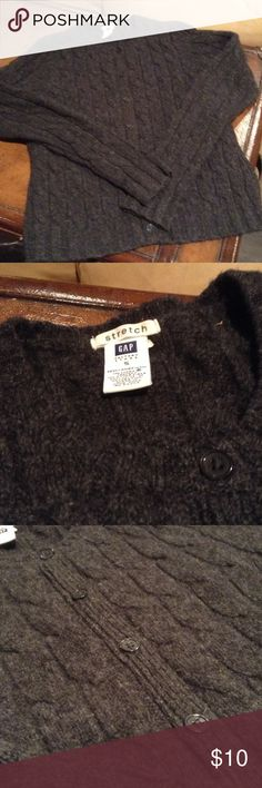Wool cardigan gap factory Charcoal grey button up sweater size small. Excellent condition. GAP Sweaters Cardigans