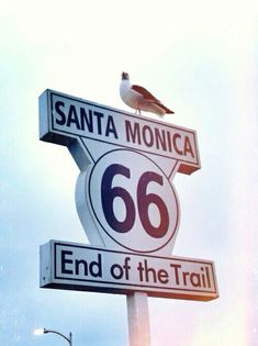 End of the road - Route 66, Santa Monica, California.