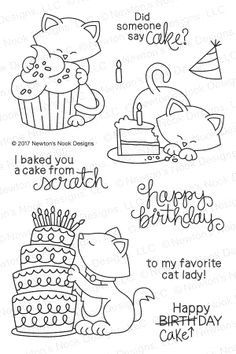 I love to color Newton's Nook Stamps with my Copics. THis Stamp set is so cute! - Affiliate Link
