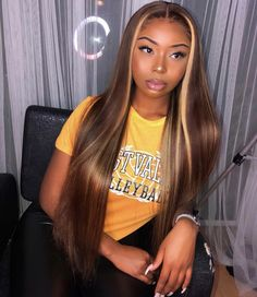 Online Shop Ombre hair color sew in human hair bundles and closure and frontal for brunettes colored hair for black off promotion factory cheap price,DHL worldwide shipping, store coupon available. Black Girls Hairstyles, Wig Hairstyles, Long Weave Hairstyles, Hairdos, Curly Hair Styles, Natural Hair Styles, Human Hair Color, Hair Laid, Ombre Hair Color