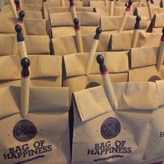 Wedding favour wrapping idea. Fill an eco friendly bag with any goodies you like.