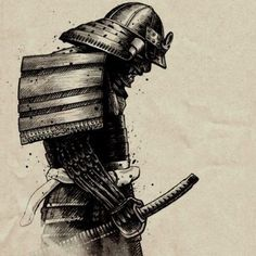 Japanese Drawing, Japanese Art, Ronin Samurai, Samurai Warrior, Fantasy Anime, Fantasy Art, Tattoo Arm Mann, Tatoo Manga, Samourai Tattoo