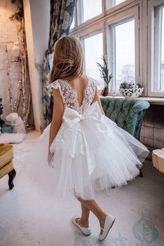 Toddler Flower Girl Dresses, Tulle Flower Girl, Ivory Flower Girl Dresses, Toddler Dress, Girls Dresses, Girls White Lace Dress, Ivory Bridesmaid Dresses, Robes Tutu, Communion Dresses