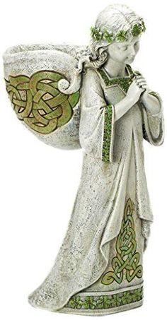 Roman Josephs Studio Praying Irish Angel Religious Outdoor Garden Planter Statue 15.25-Inch