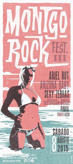 MONTGOROCK Festival 2015 by Leviathan ••• #design #creative #create #poster #graphic #vintage #diseño #lifestyle #rockNroll  #art  #bikers #cartel