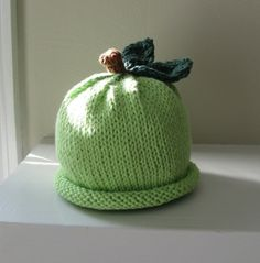 FREE SHIPPING Granny Smith Apple Hat for Babies by mymarketstall, $20.00