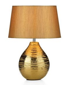 Beaumont Table Lamp Gold - £63.50 - Hicks and Hicks