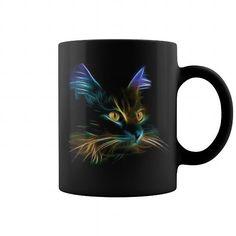 Fractal Art Cat Mug