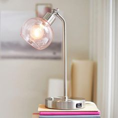 Picking out the perfect lamp for your home can be difficult because there's such a wide range of lamps you could choose. Get the perfect living room lamp, bedroom lamp, desk lamp or any other type for your particular space. Bright Homes, Task Lamps, Bedroom Lamps, Bedroom Ideas, Bedroom Decor, Bedroom Wall, Master Bedroom, Unique Lamps, Bedside Lamp
