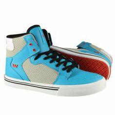 Produit en promotion  Supra Enfant - Kids Vaider Shoes Turquise/Grey-White