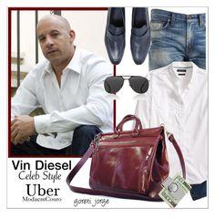 Vin Diesel - Celeb Style by goreti on Polyvore featuring polyvore Banana Republic Berluti Dior Homme American Coin Treasures Diesel men's fashion menswear clothing ubermodaemcouro