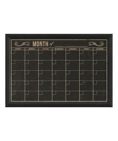 Look at this #zulilyfind! Monthly Calender Framed Chalkboard #zulilyfinds