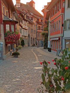 The little walled city of Stein am Rhein, Switzerland