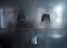 Custom blackened brass cabinets by Ferra in an apartment remodel by Workstead, Matthew Williams photo | Remodelista